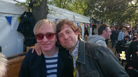Paul (Blow Up Records) and Jake Shillingford